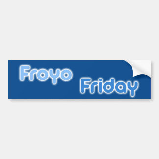 FroyoFriday Bumper Sticker