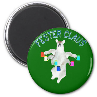 Froze Fester Claus Fully Customizable Claus Man 6 Cm Round Magnet