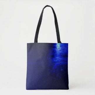 Frozen Blue All-Over-Print Tote Bag