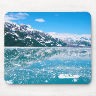Frozen blue lake mouse mat