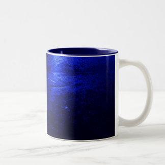 Frozen Blue Navy Blue 11 oz Two-Tone Mug