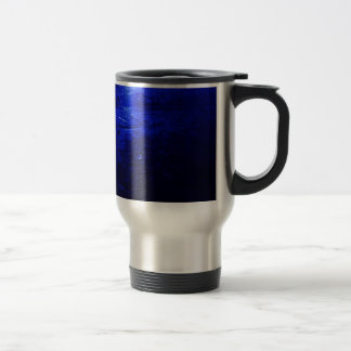 Frozen Blue Stainless Steel 15 oz Travel Mug