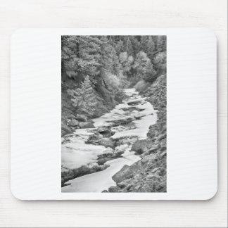 Frozen Boulder Creek Boulder Canyon Colorado BW Mousepads