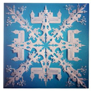 Frozen Castle Snow Flake Tile