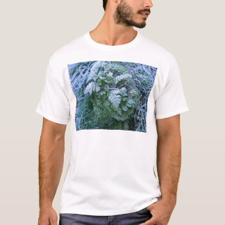 Frozen Fern on a Tree Stump Adult Tee Shirt