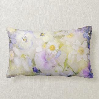 Frozen flowers lumbar cushion