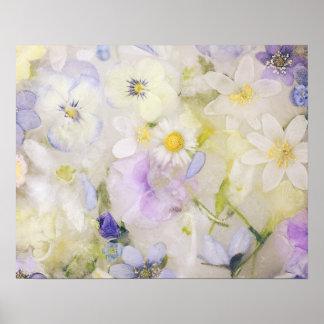 Frozen flowers poster