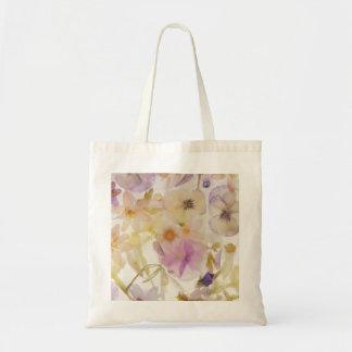 Frozen flowers tote bag