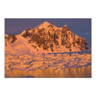frozen glacial mountain landscape along the photo print