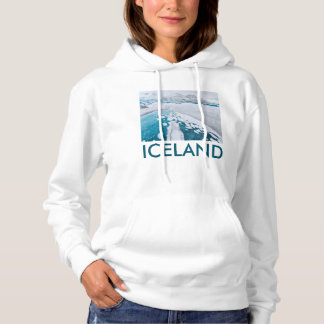 Frozen glacier ice, Iceland Hoodie