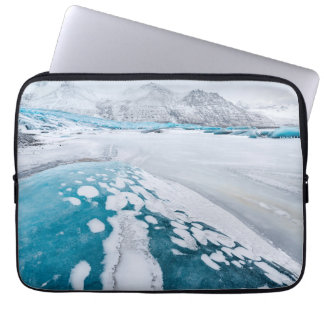 Frozen glacier ice, Iceland Laptop Sleeve
