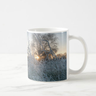 Frozen grass in Richmond Park Coffee Mug
