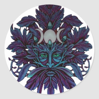 Frozen Green Man God of Leaves Classic Round Sticker