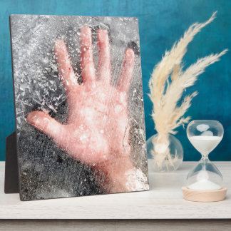 Frozen hand design display plaques