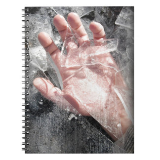 Frozen hand design notebook