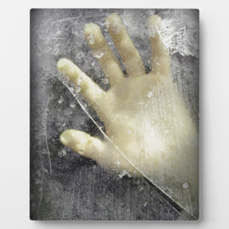 Frozen hand design plaque