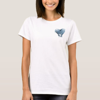Frozen heart (White) T-Shirt