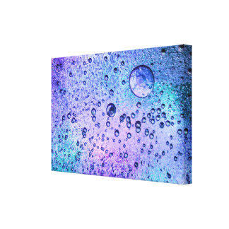 Frozen ice background with pink and blue colours canvas print