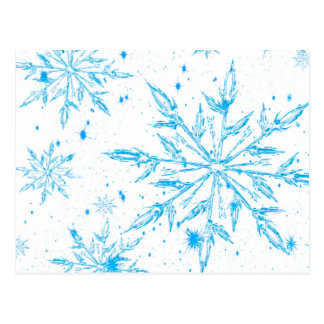 Frozen ice crystal snowflake postcard