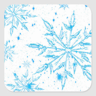 Frozen ice crystal snowflake stickers