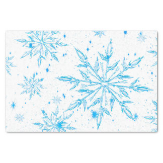 Frozen ice crystal snowflake tissue paper