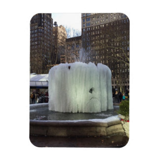 Frozen Ice Fountain Bryant Park New York City NYC Magnet