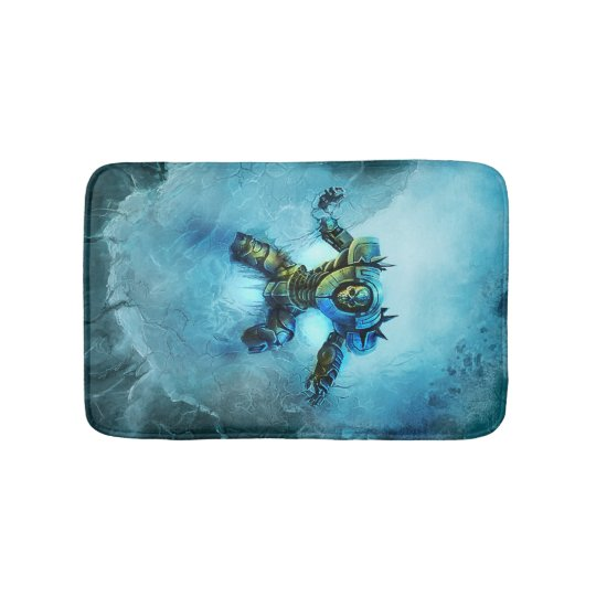 Frozen Knight bath mat
