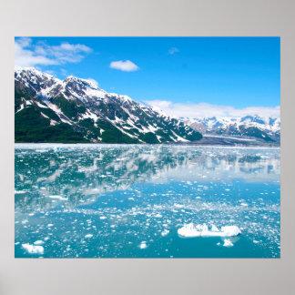Frozen lake Alaska Poster