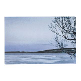 Frozen Lake Laminated Placemat