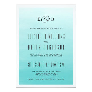 Frozen Lake Ombre | Wedding Invitation