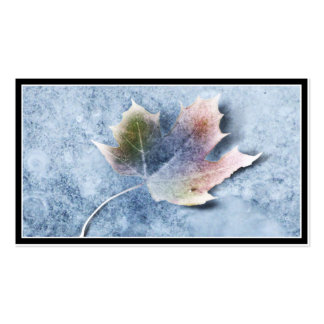 Frozen Leaf on Ice Double-Sided Standard Business Cards (Pack Of 100)