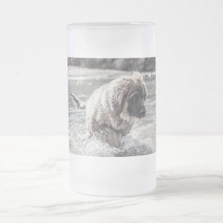 Frozen Leonberger Frosted Glass Beer Mug