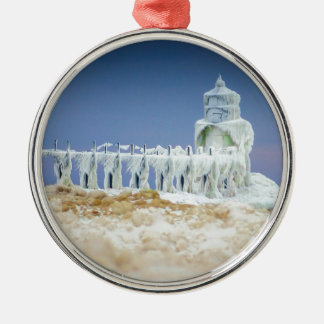 Frozen Lighthouse Christmas Ornament