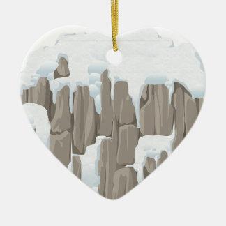 Frozen Mountains Christmas Ornament