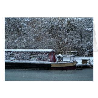 Frozen Narrowboat Card