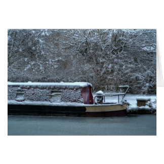 Frozen Narrowboat Greeting Card