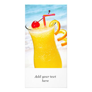Frozen orange drink customised photo card