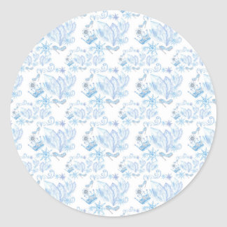 Frozen Pattern Classic Round Sticker