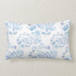 Frozen Pattern Lumbar Cushion