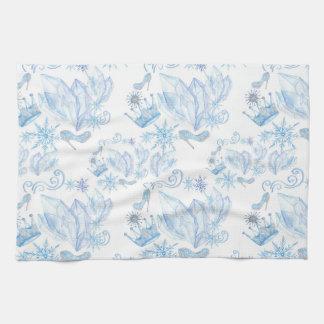 Frozen Pattern Tea Towel