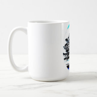 frozen pine art basic white mug