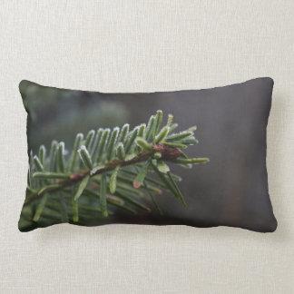 Frozen Pine Tree Lumbar Cushion