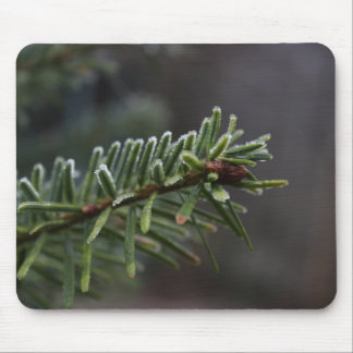 Frozen Pine Tree Mouse Mat