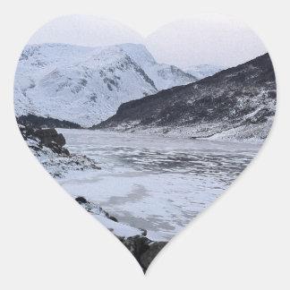 frozen river heart sticker