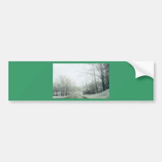 Frozen roads car bumper sticker