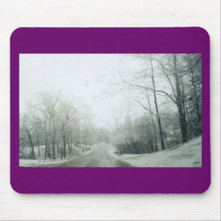 Frozen roads mouse pad