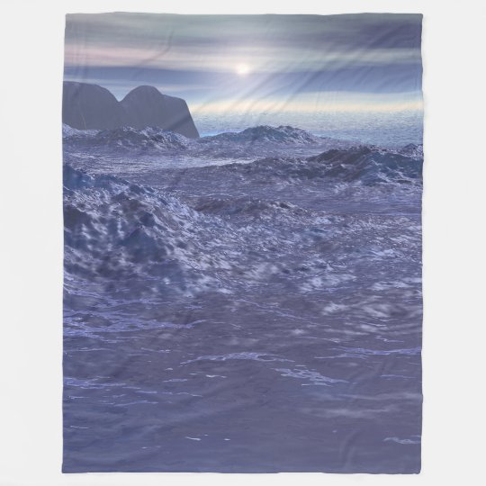 Frozen Sea of Neptune Fleece Blanket