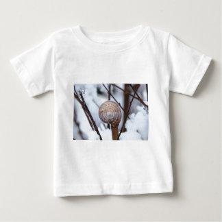 Frozen Snail Shell in Snow Baby T-Shirt