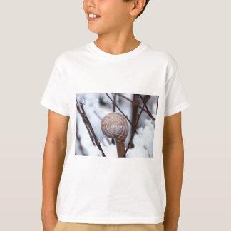 Frozen Snail Shell in Snow T-Shirt