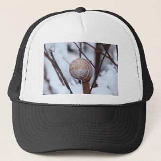 Frozen Snail Shell in Snow Trucker Hat